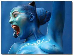 Salvatore Dali in blau