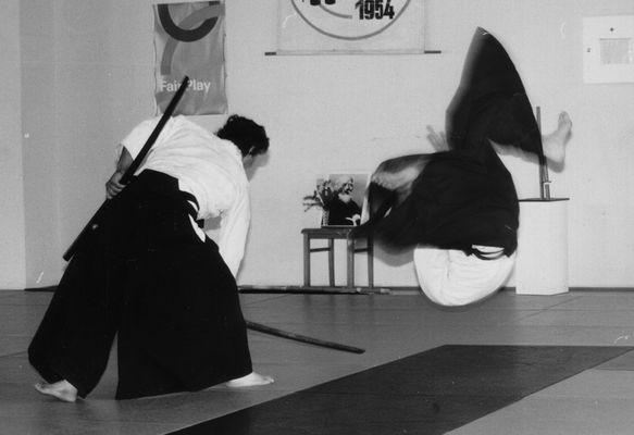 Salvatore Smecca bei der Ausübung von Aikido (die sanfte Kunst der Selbstverteidigung)