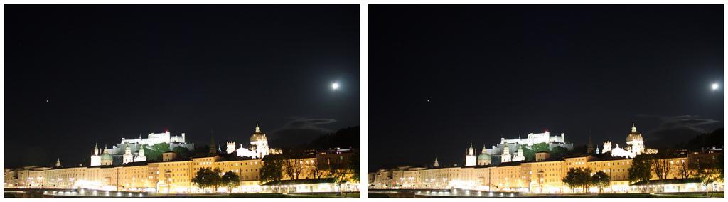 Salzburg bei Nacht (3D Parallelblick Hyperstereo)
