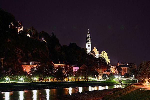 Salzburg bei Nacht III und letztes