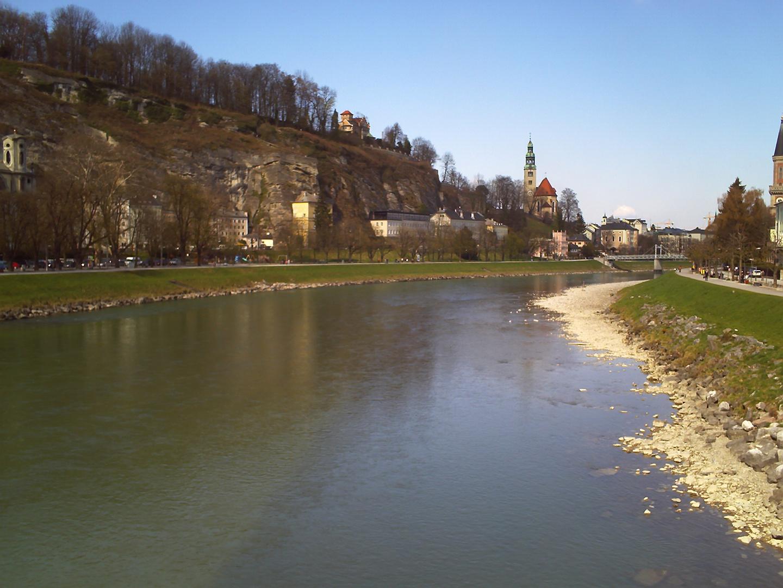 Salzburg, Blick auf die Salzach
