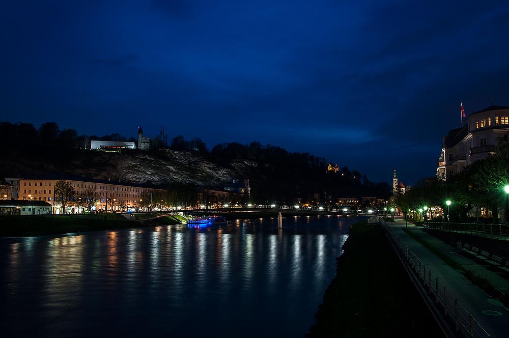 Salzburg - Blick zum Mönchsberg