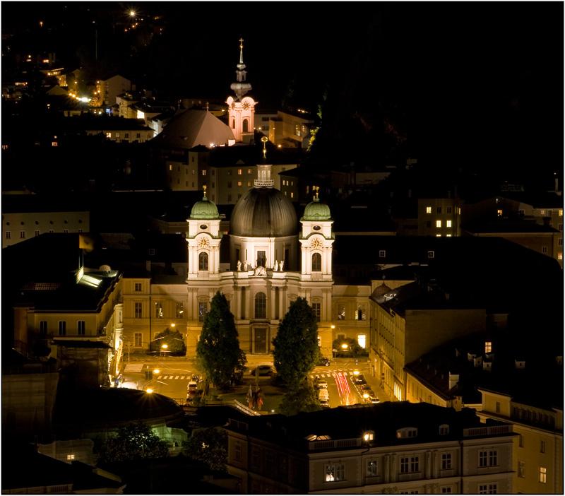Salzburg city lights
