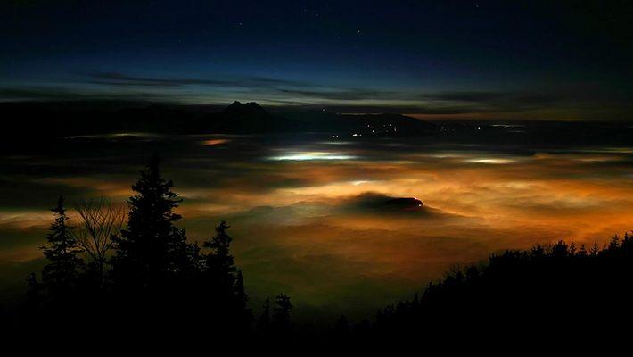 Salzburg im Nebel