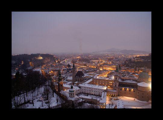 Salzburg nach Sonnenuntergang