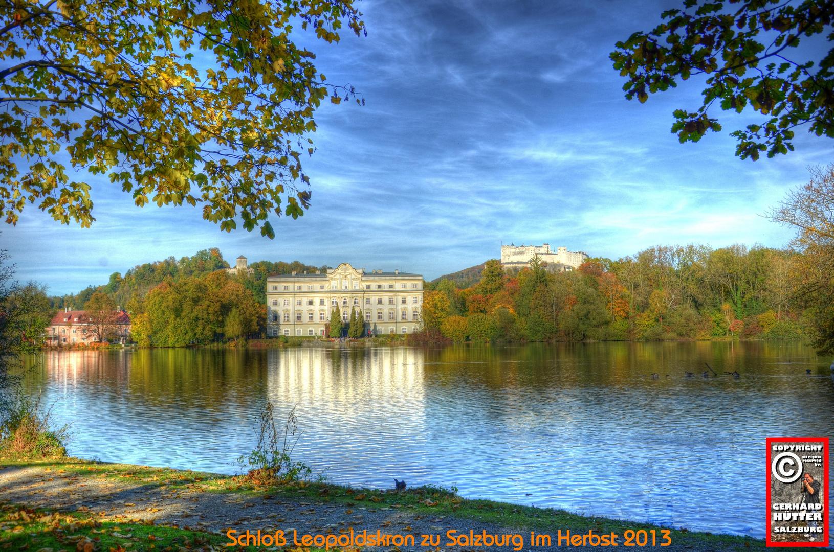 Salzburg - Schloß Leopoldskron mit Weiher