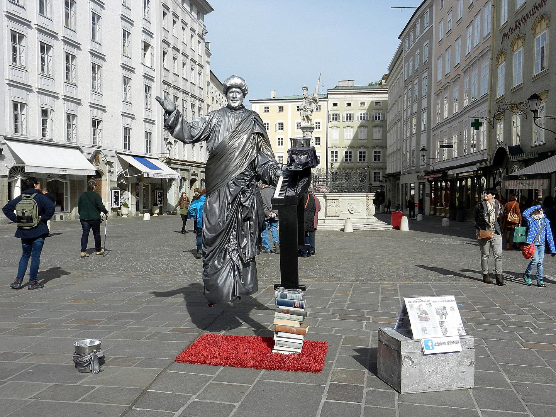 Salzburg und sein lebend Statue Ed.Silver