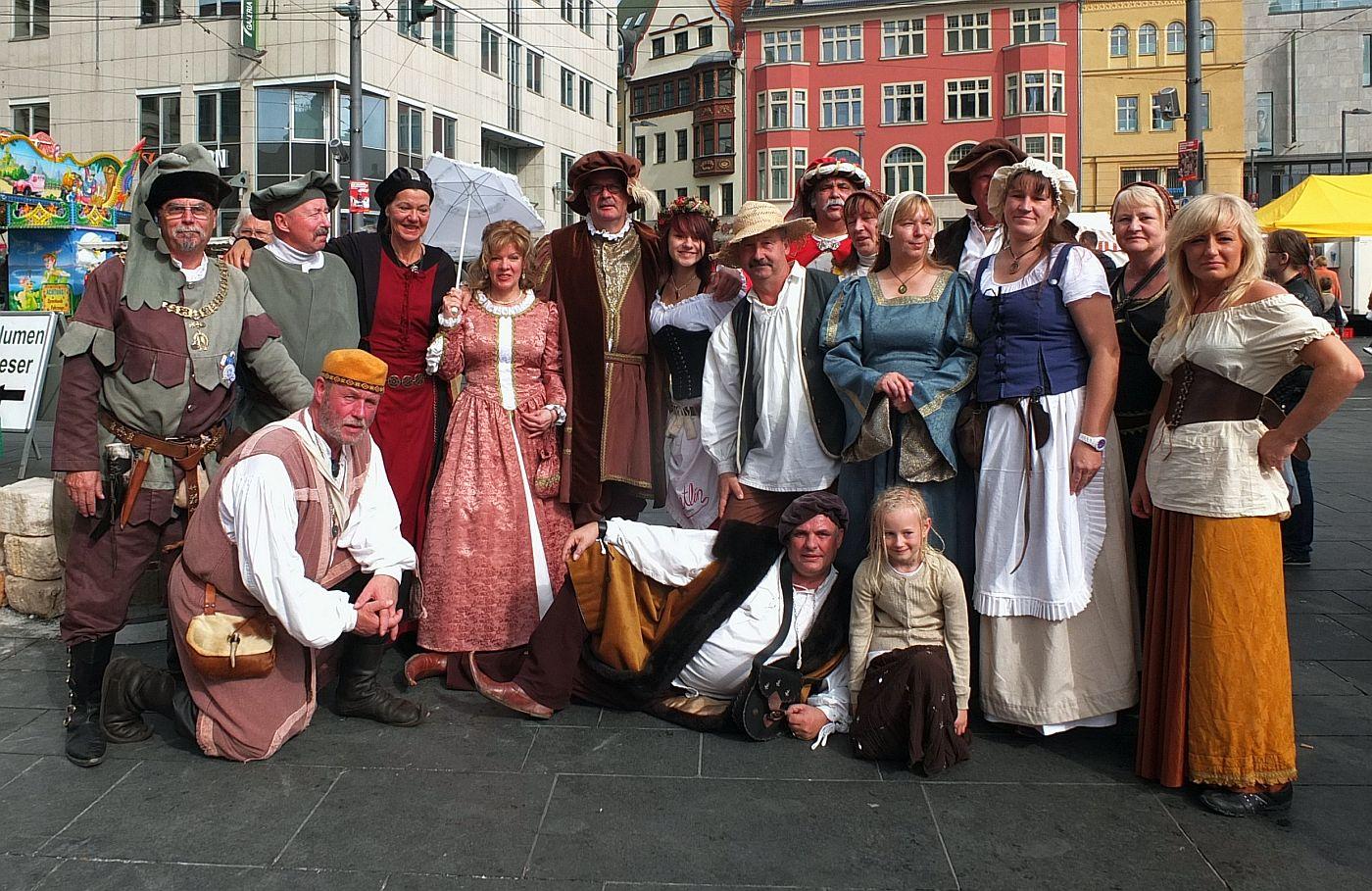 Salzfest in Halle 2013 - Gruppe Quinta-X-Essentia und Hanseverein e.V.