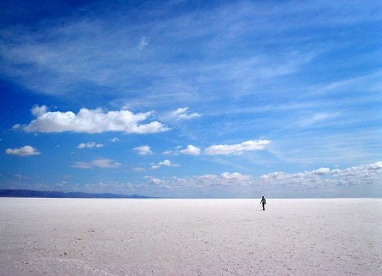 Salzsee in Tunesien