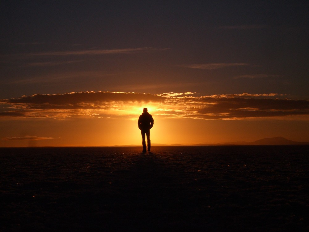 Salzwüste am Morgen