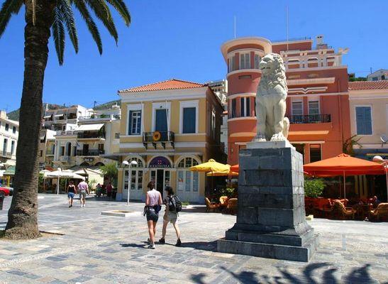 Samos Stadt.-Löwe der Freiheit