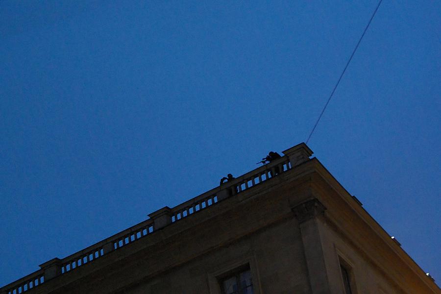 Samstag Abend... Odeonsplatz... Henry Kissenger erhält den Kleist Preis in der Residenz