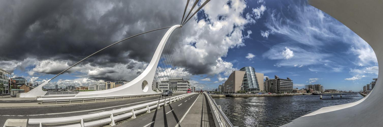 Samuell Becket Bridge an einem wunderschönen Juni-Tag 2014