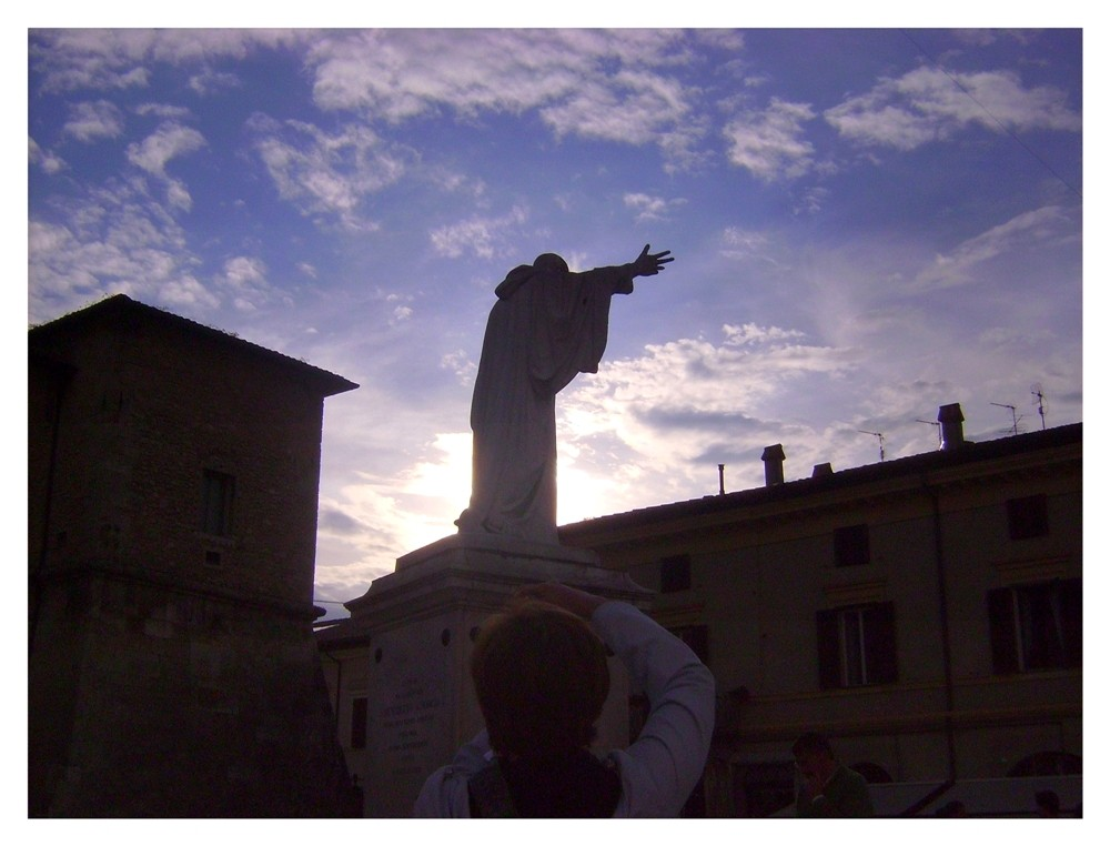 San Benedetto da Norcia in controluce