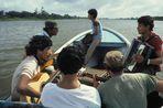 San Carlos Musiker im Boot