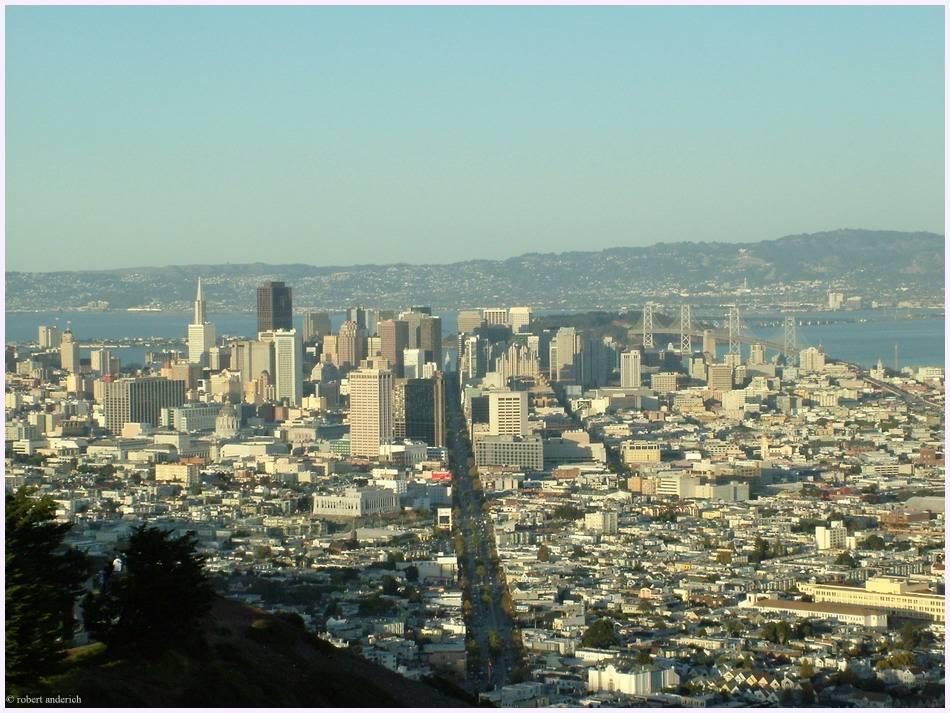 San Francisco am Nachmittag/Standort Twean Peaks