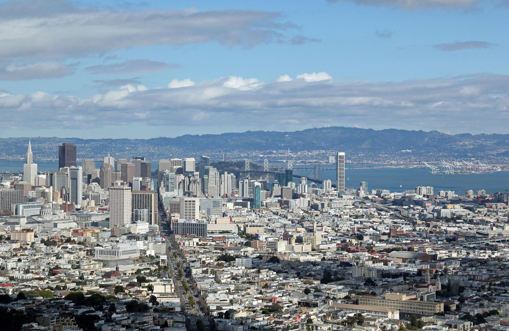 San Francisco - Aussicht von den Twinpeaks