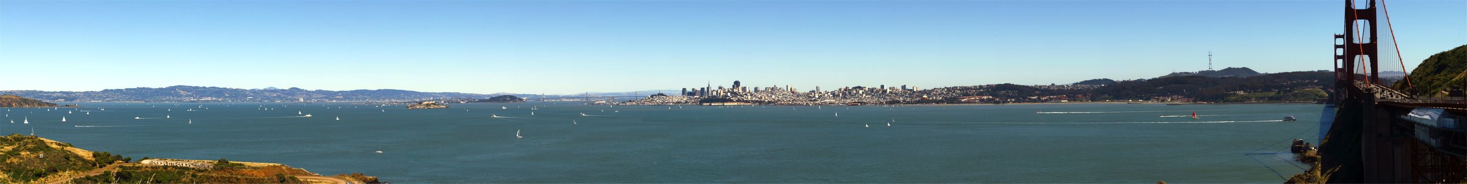 San Francisco from Golden Gate Bridge Head