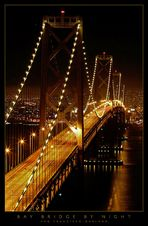 San Francisco-Oakland Bay Bridge by Night