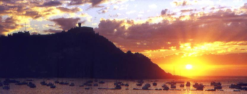 San Sebastian - Sonnenuntergang