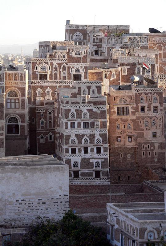 Sana'a – Häuser im Abendlicht