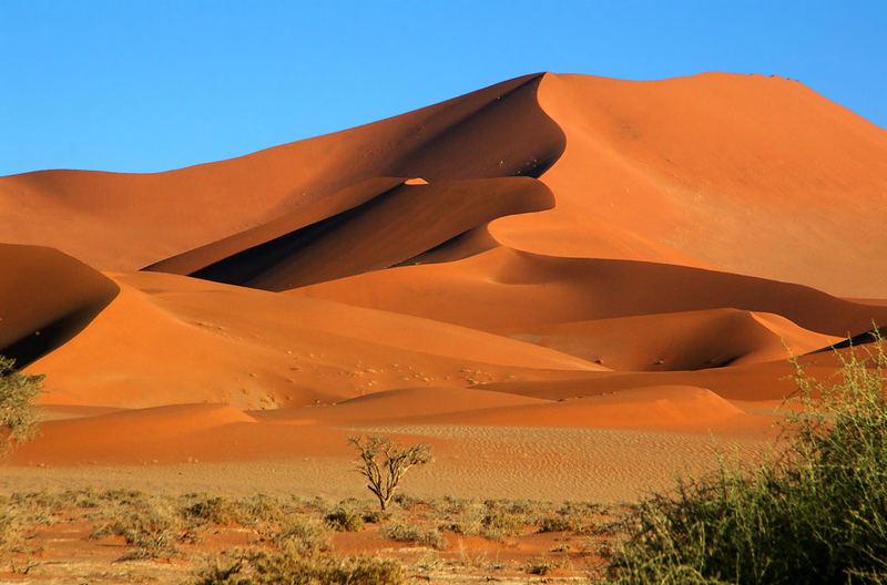 Sand im Namib Naukluft Park.