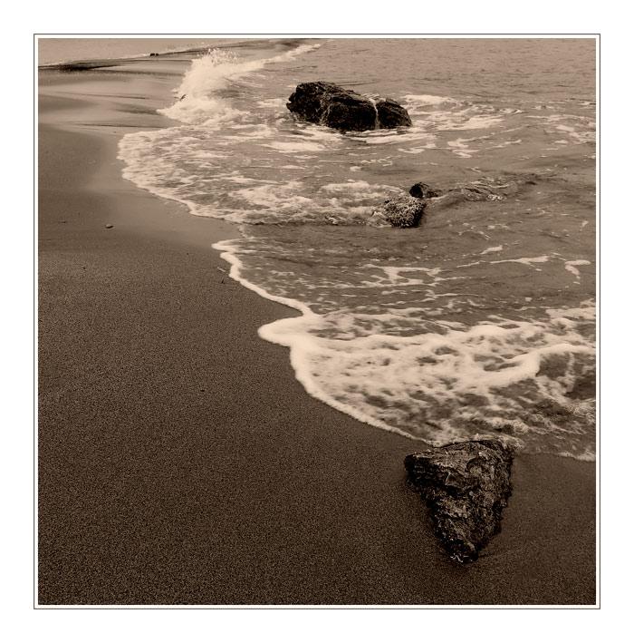 Sand, Steine und Meer