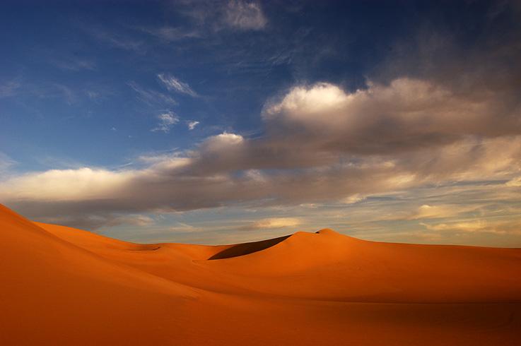 Sanddüne im Sandmeer - Abendstimmung