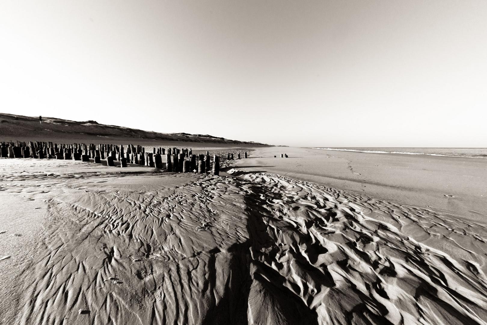 Sandformation am Strand