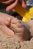 Sandiges Füßchen