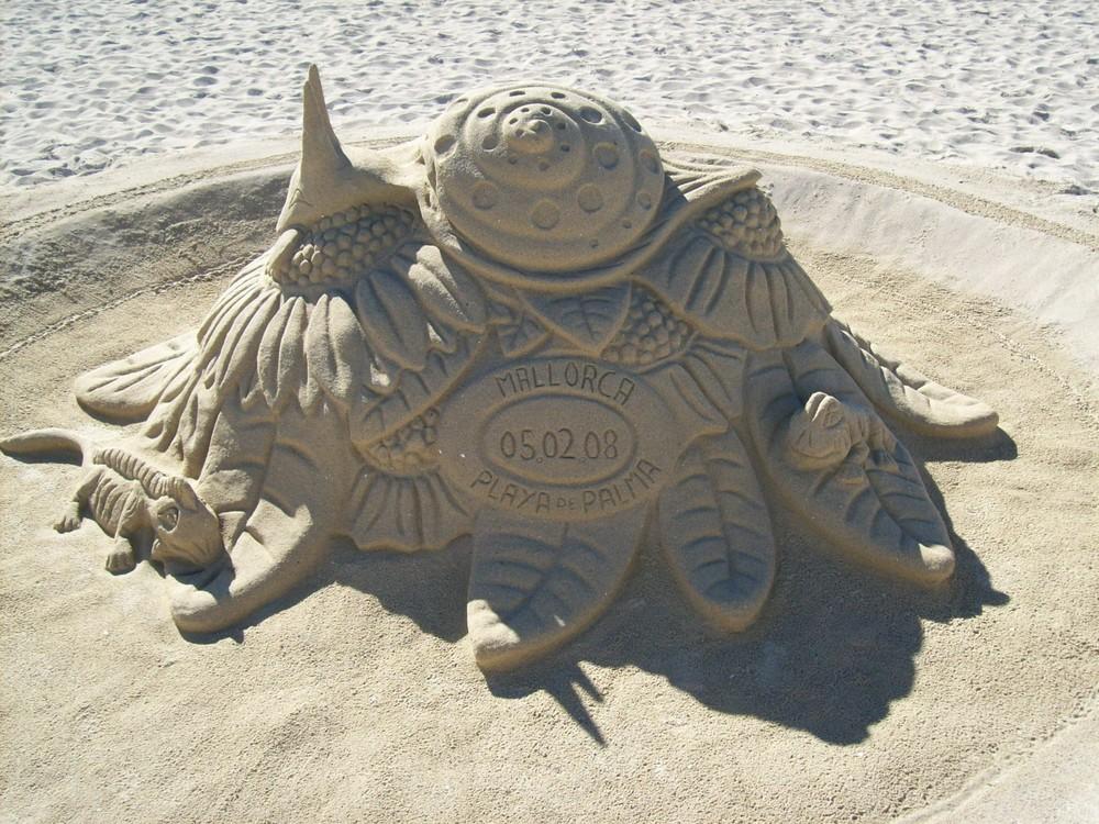 Sandkunstwerk
