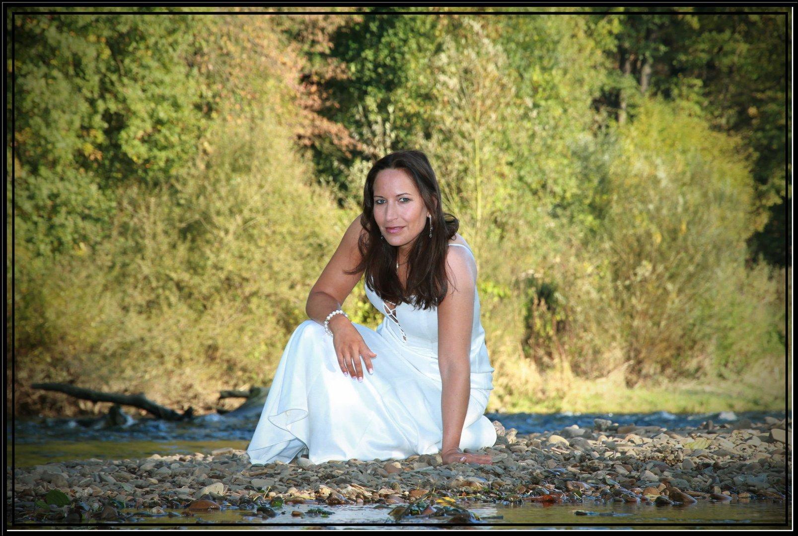 Sandra am Fluss