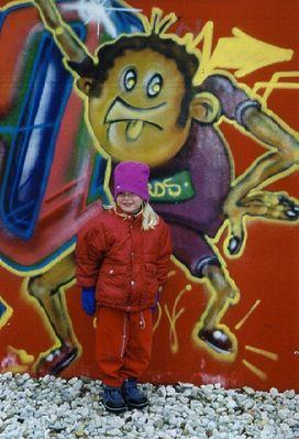 Sandra und der Graffiti-Mann