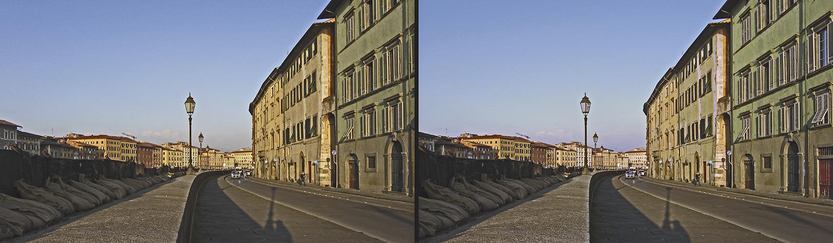 Sandsäcke in Pisa (3D)