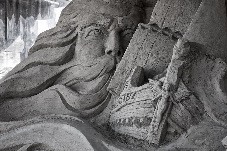 Sandskulptur am Pier 7 ...