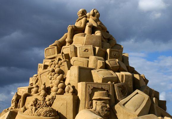 Sandskulptur in Berlin