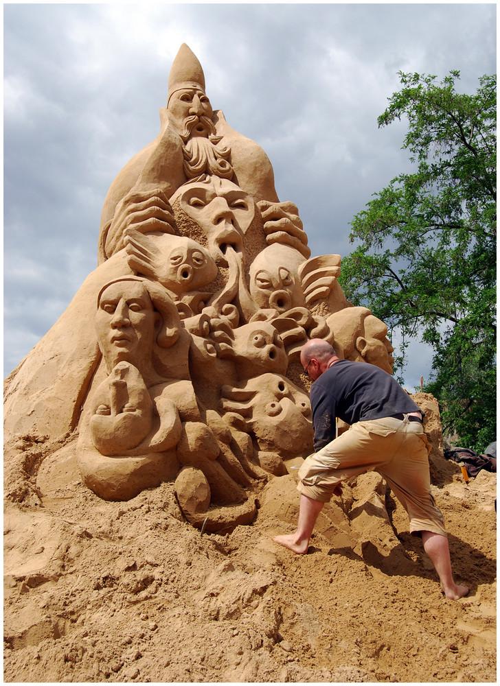 """Sandskulptur - """" Merlin the Wizard """""""