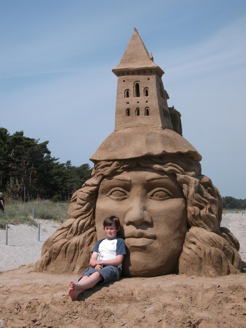 Sandskulpturen Festival 2011 Rügen - eine heile Figur