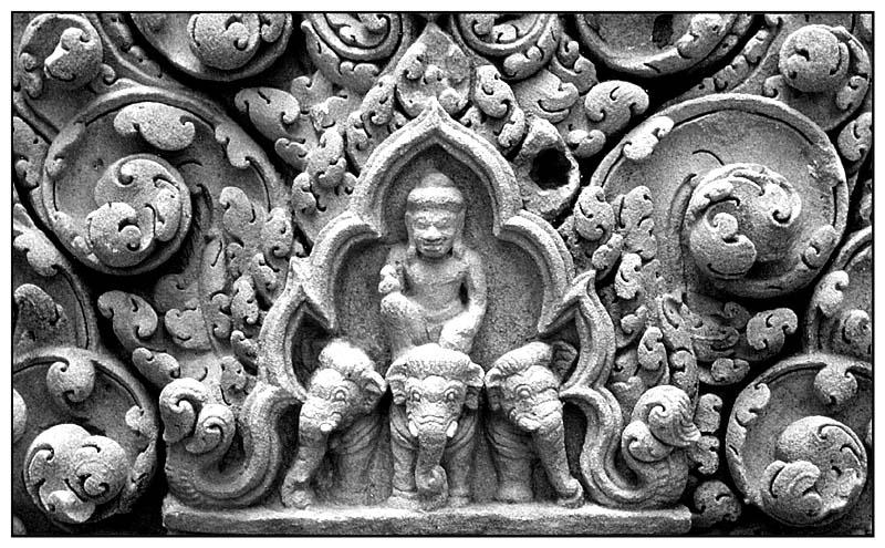 Sandsteinrelief - Prasat Hin Phimai
