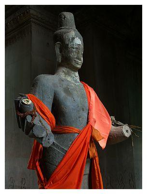 Sandsteinstatue in Angkor Wat - Siem Reap, Kambodscha