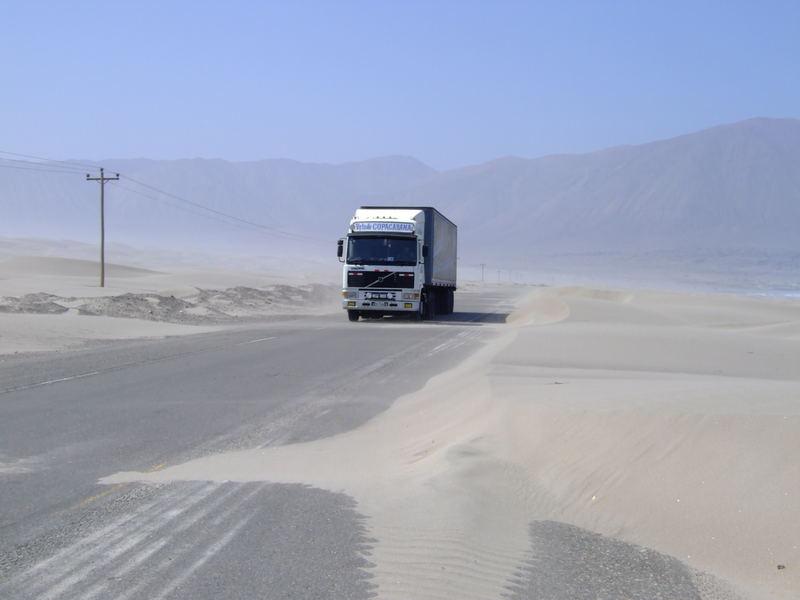 Sandsturm auf der PanAmerika.