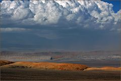 Sandsturm im Abendlicht/ Atacama Chile