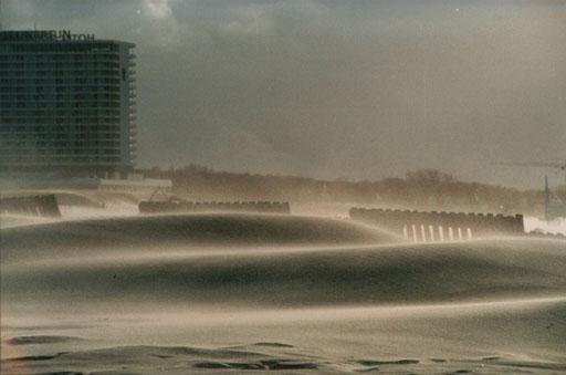 Sandsturm in Warnemünde (1998?)