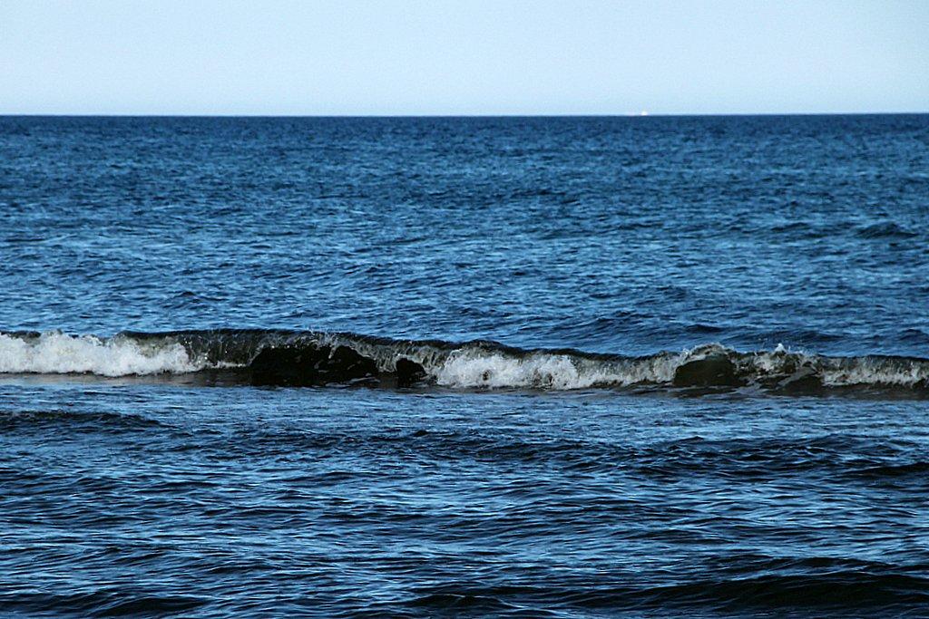 Sanfte Brandung an der Ostsee