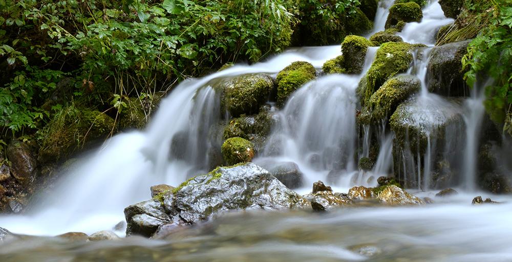 Sanfter Wasserfall im Hochschwabgebiet, Österreich