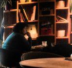 Sanftes Licht Bücher ein ruhiger Moment