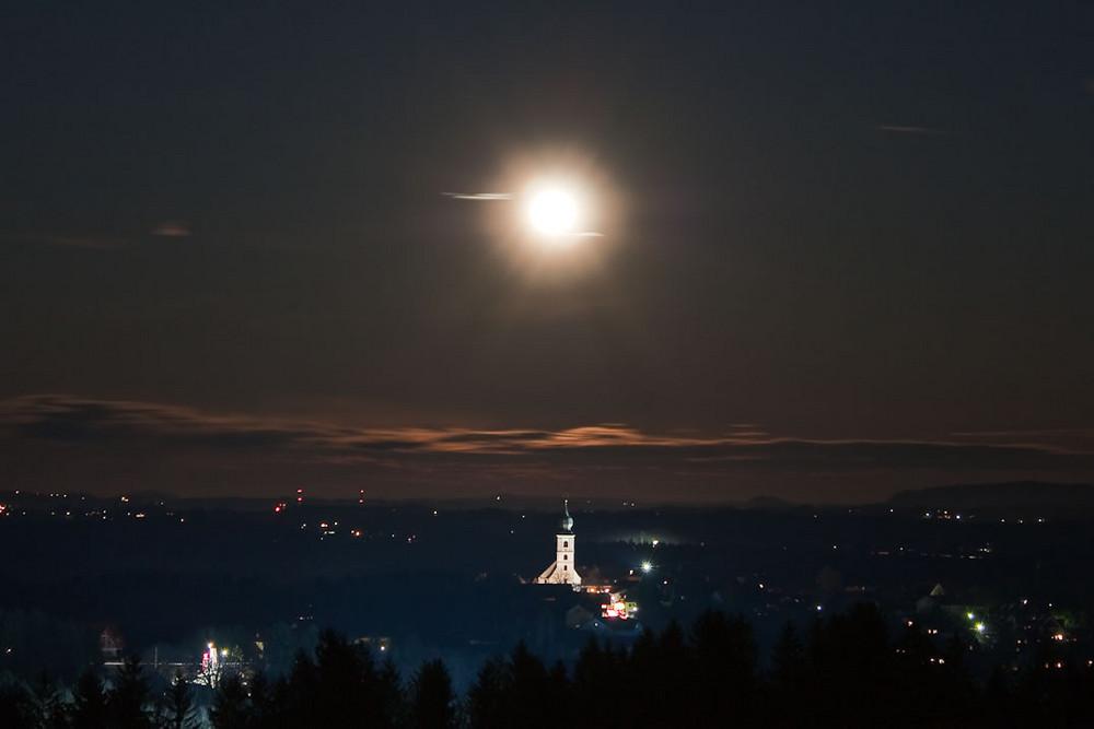Sankt Stefan ob Stainz im Mondschein