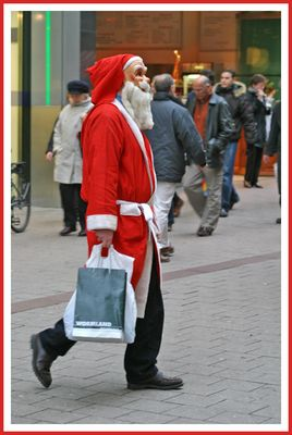 Santa goes shopping