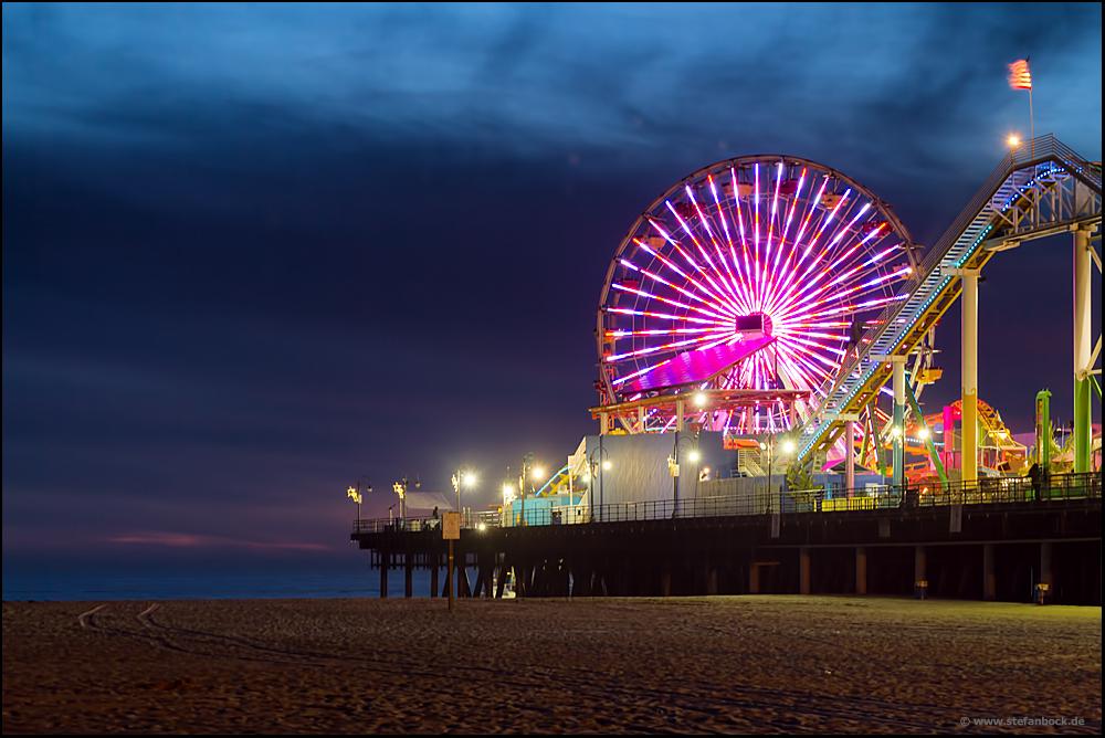 Santa Monica Pier Los Angeles Rollercoaster