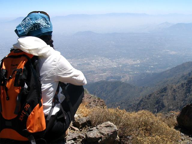 Santiago Contaminado desde el Cerro Abanico